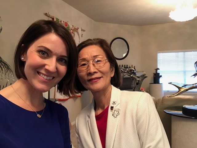 Mija Lee met with Erin Cargile Dec. 29, 2017 to give her some advice before she heads to the Winter Olympics in South Korea (KXAN Photo/Erin Cargile)