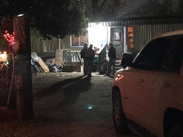 Location where the suspect was originally found on FM 1518 near Lisa Meadows in northeast Bexar County. (KXAN Photo/Erin Cargile)