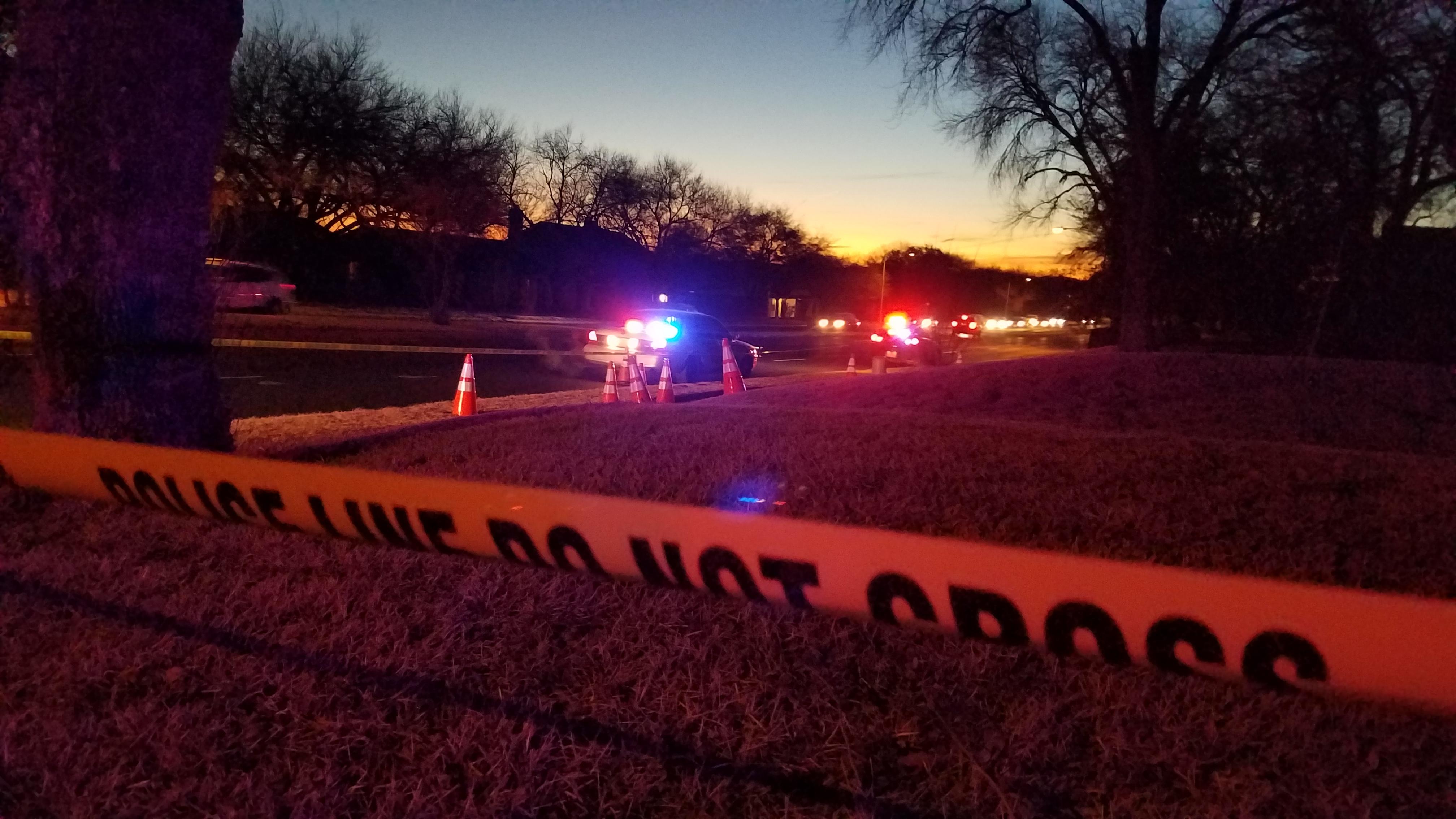 A teen was shot in north Austin Jan. 25, 2018 (KXAN Photo/Chris Davis)