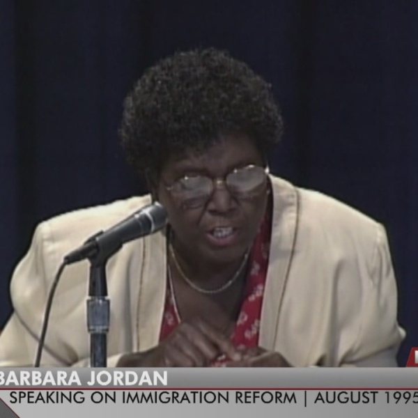 President Trump says he shares immigration views with Barbara Jordan