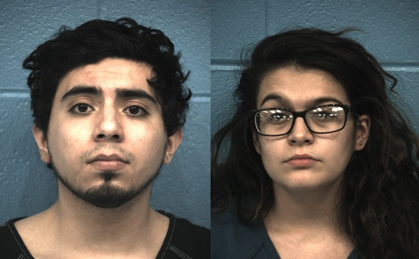 Booking photos of Richard Acosta, 23, (left) and Vanessa Velasco, 20. (Photos: Williamson County Sheriff's Office)