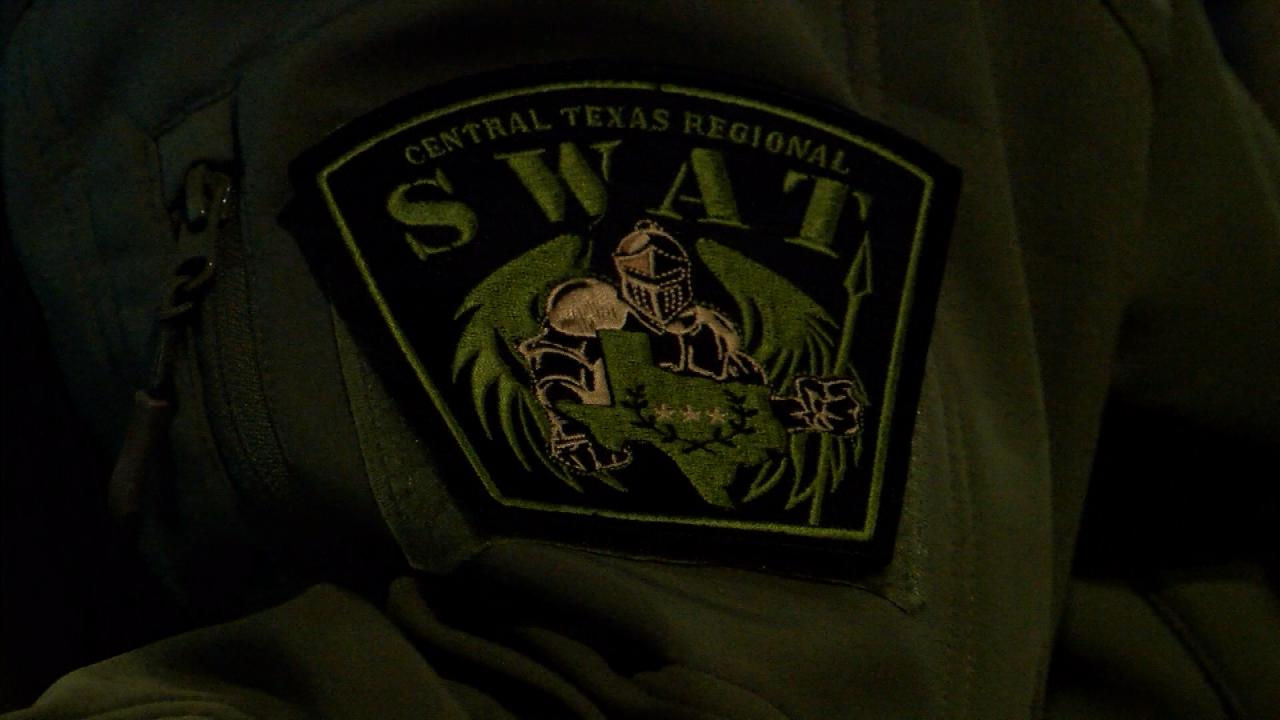Central Texas Regional SWAT badge. (KXAN Photo/Wes Rapaport)