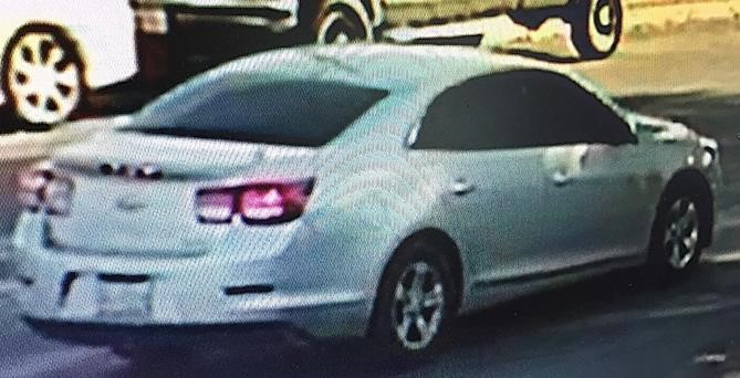 Suspect vehicle in Chase Bank robbery on North Lamar Boulevard on Jan. 24, 2018. (Austin Police Department)
