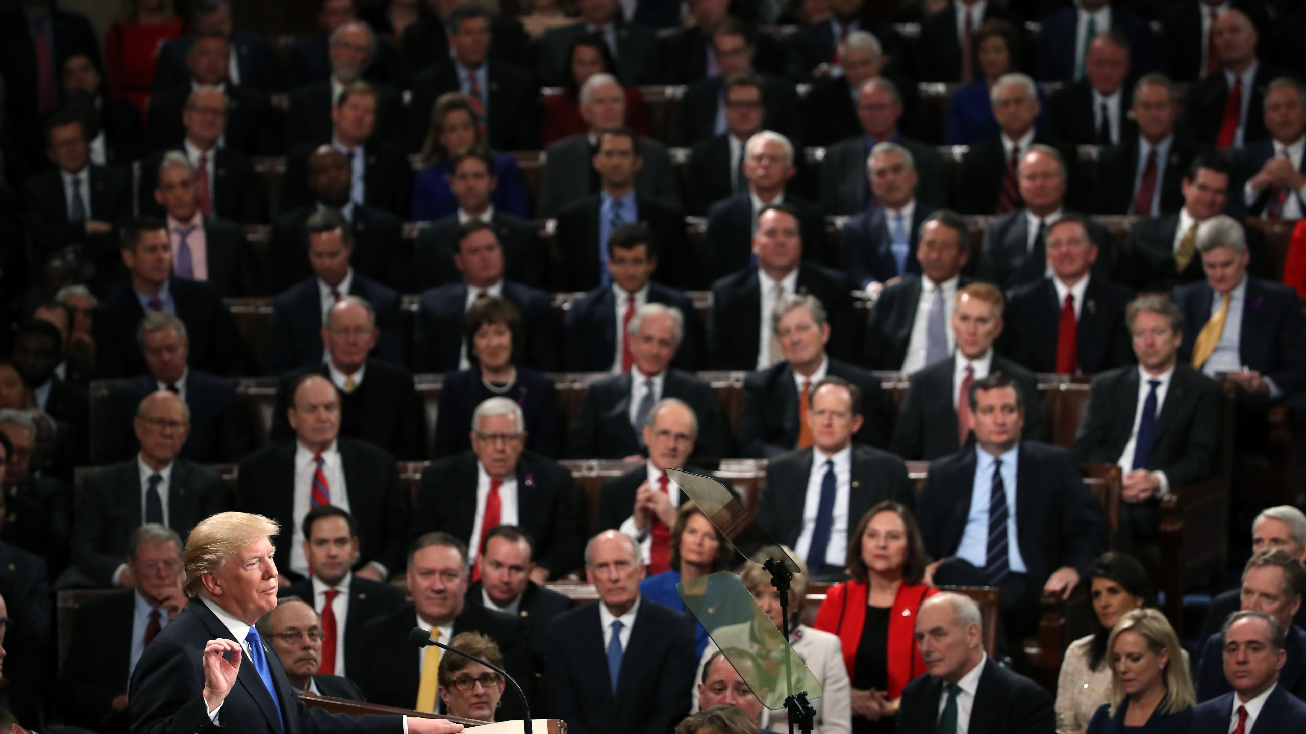 President Trump Addresses The Nation In His First State Of The Union Address To Joint Session Of Congress_625867