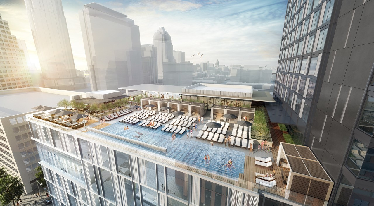 Austin Marriott Downtown rendering of the pool area.. (Courtesy: Marriott)