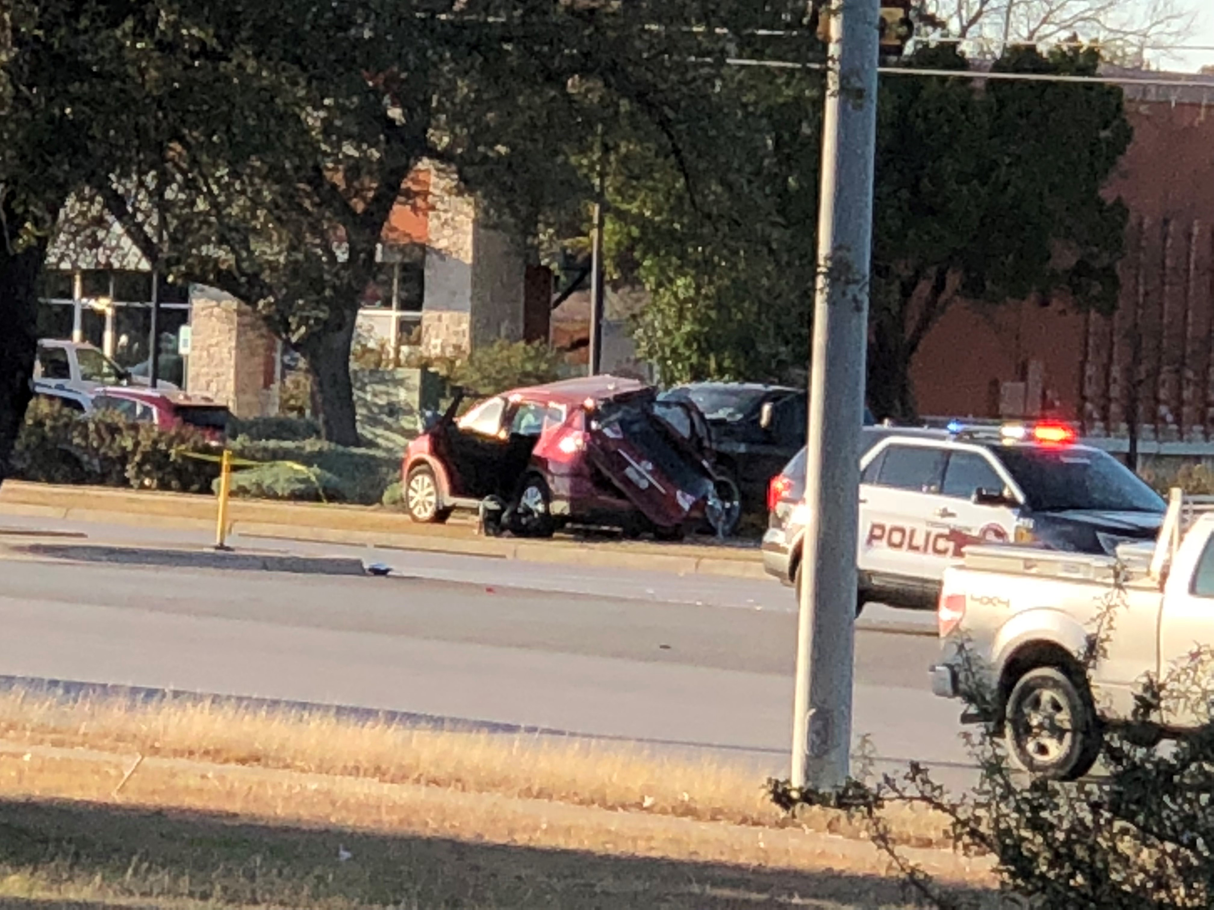 Two children died in a two-vehicle crash on W. Whitestone Boulevard and Walton Way in Cedar Park on Jan. 10, 2018. (KXAN Viewer Photo)