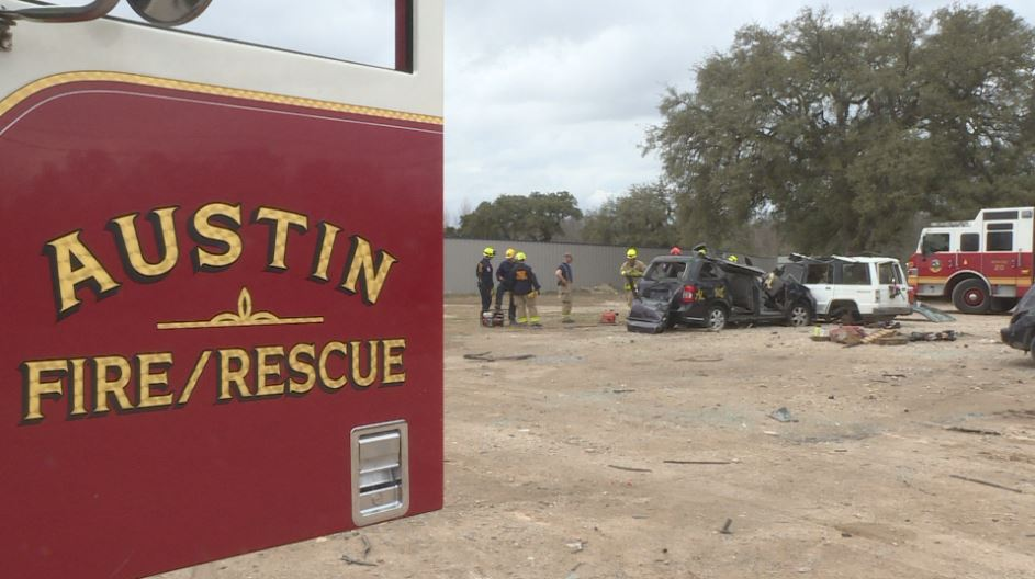 Austin Fire Department Station 20 crew training (KXAN Photo/Candy Rodriguez)