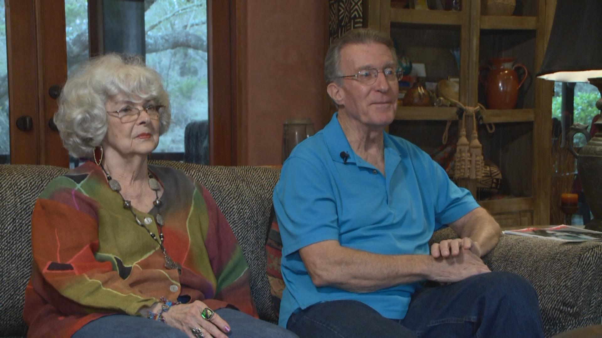 Jack Schmitt and Jeanne Bazar say scammers started calling their Leander home a few weeks ago trying to swipe sensitive information from their old Medicare cards. Seniors in Texas should receive replacement cards this summer. (KXAN Photo)
