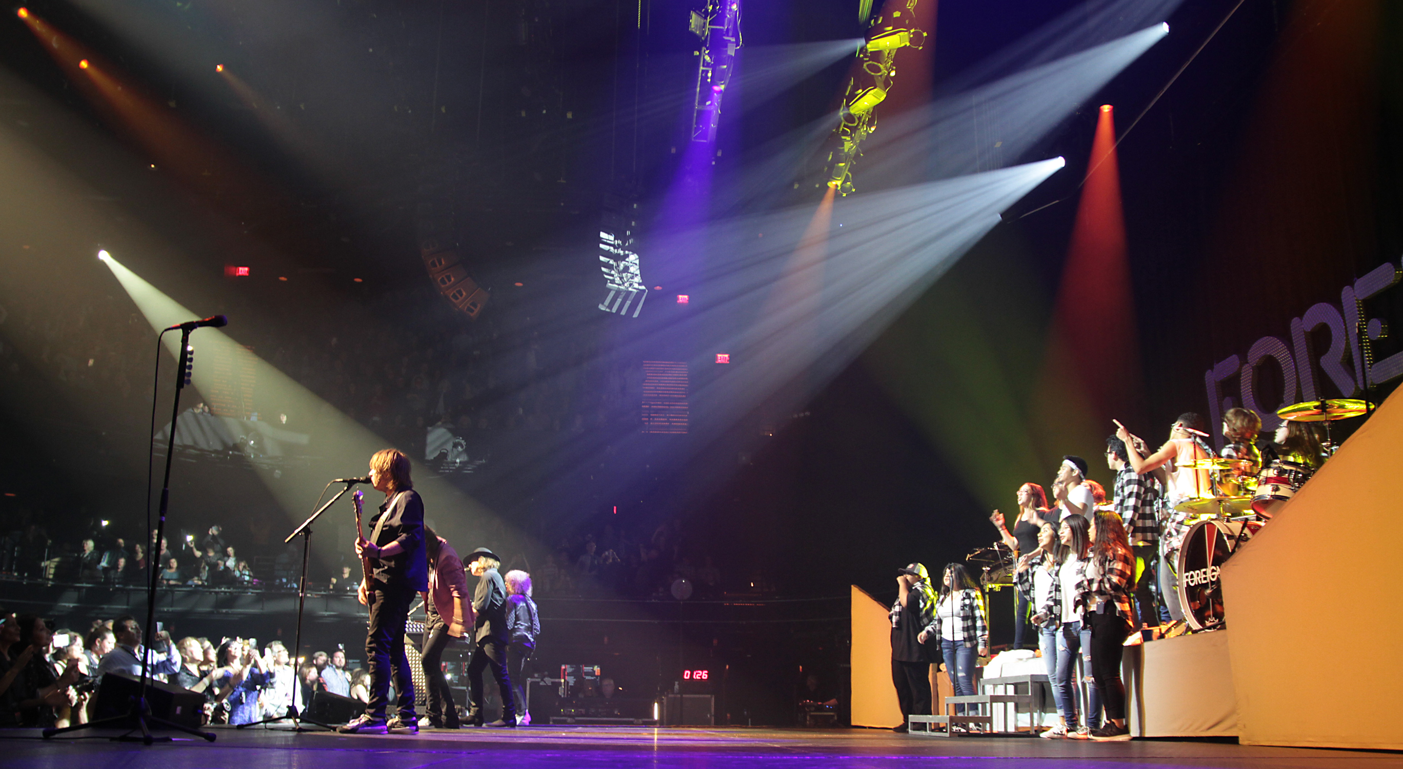 Connally High School students were chosen to perform with Foreigner following a contest last year (PfISD Photo)