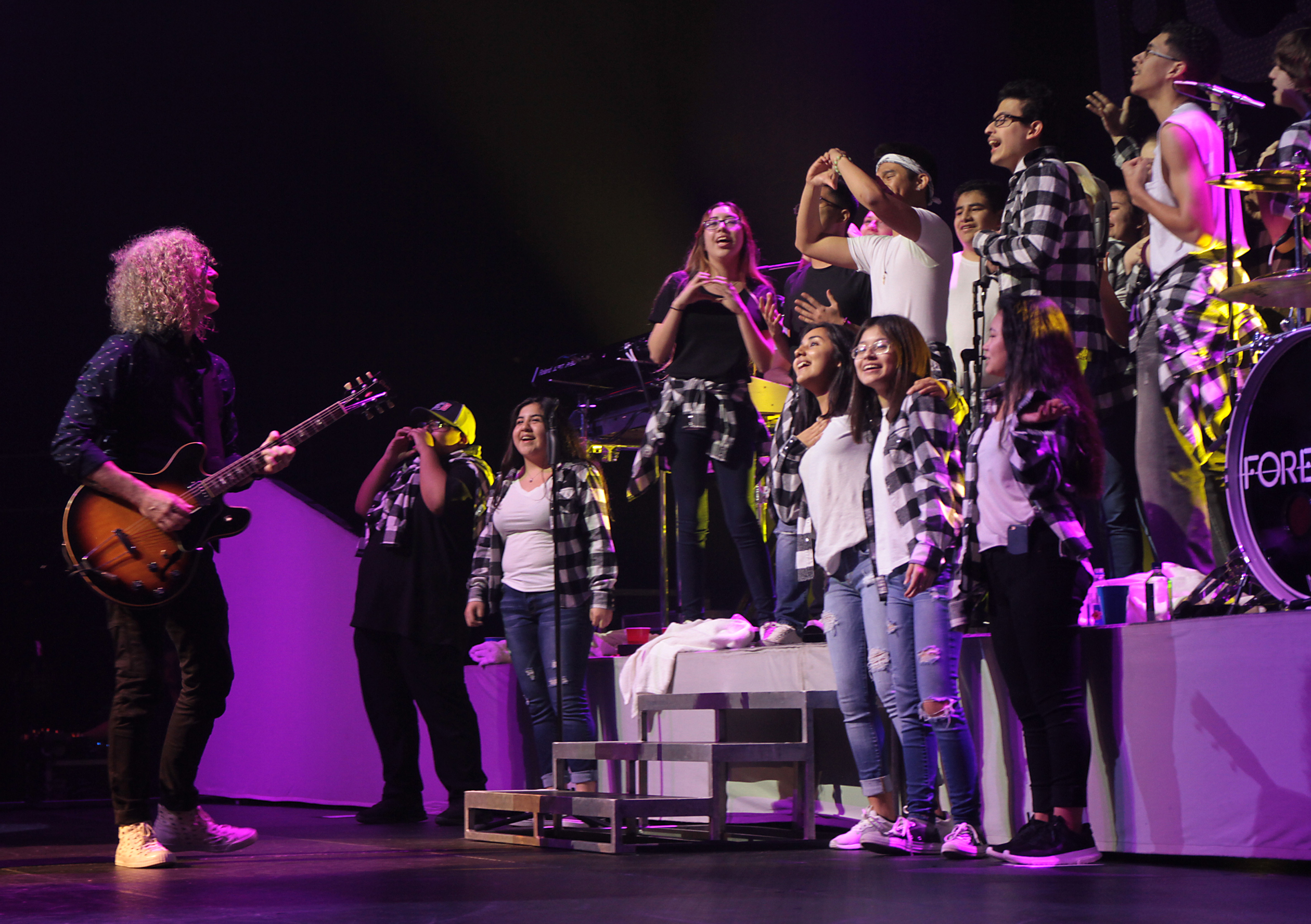 Twenty-five students from Connally High School were selected to perform with Foreigner Feb. 25, 2018 (PfISD Photo)