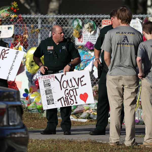 Students Return To Class For First Time After Mass Shooting At Florida School_645854