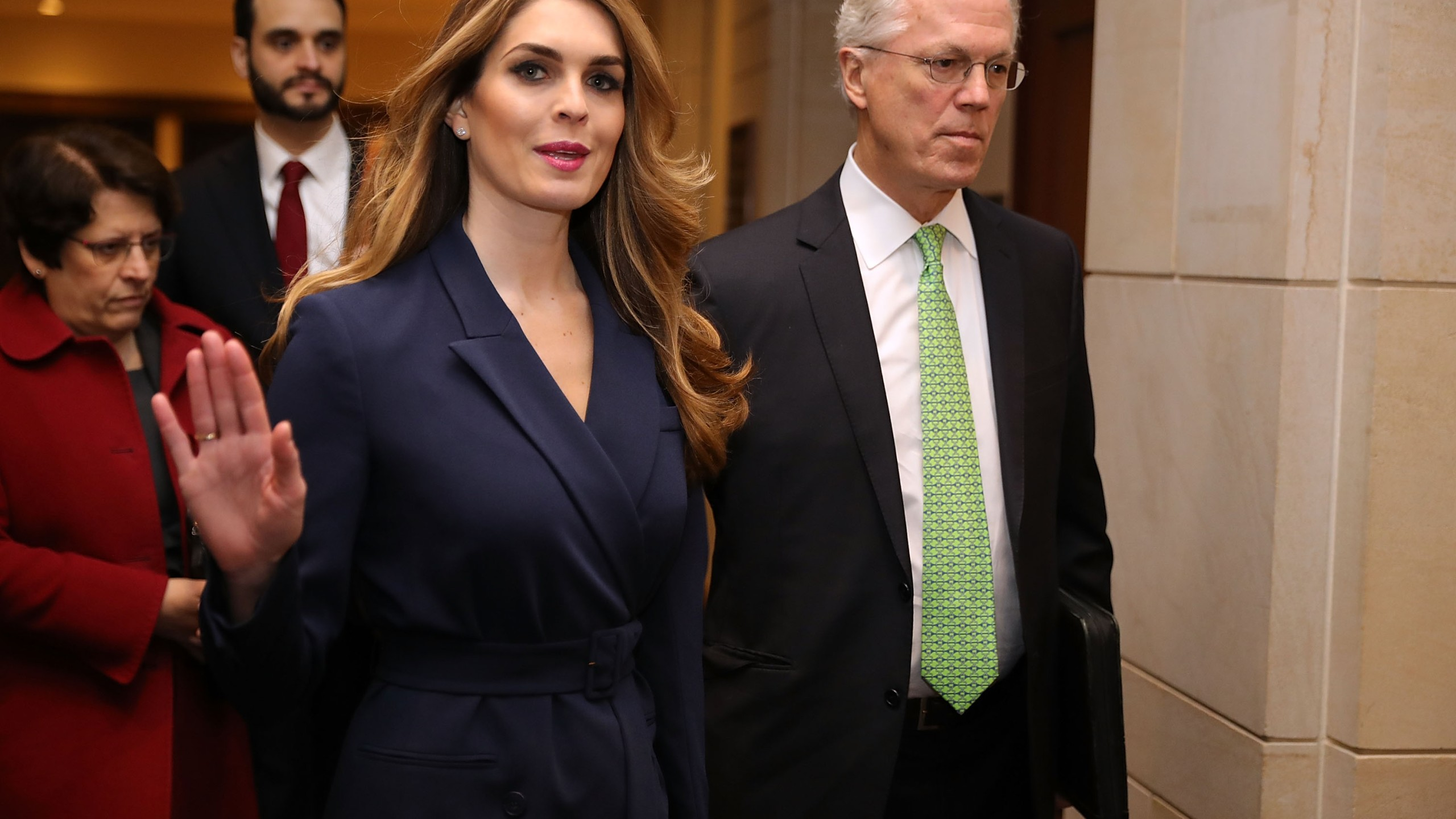 White House Communications Director Hope Hicks Is Interviewed By House Intelligence Committee During Russian Investigation_646097