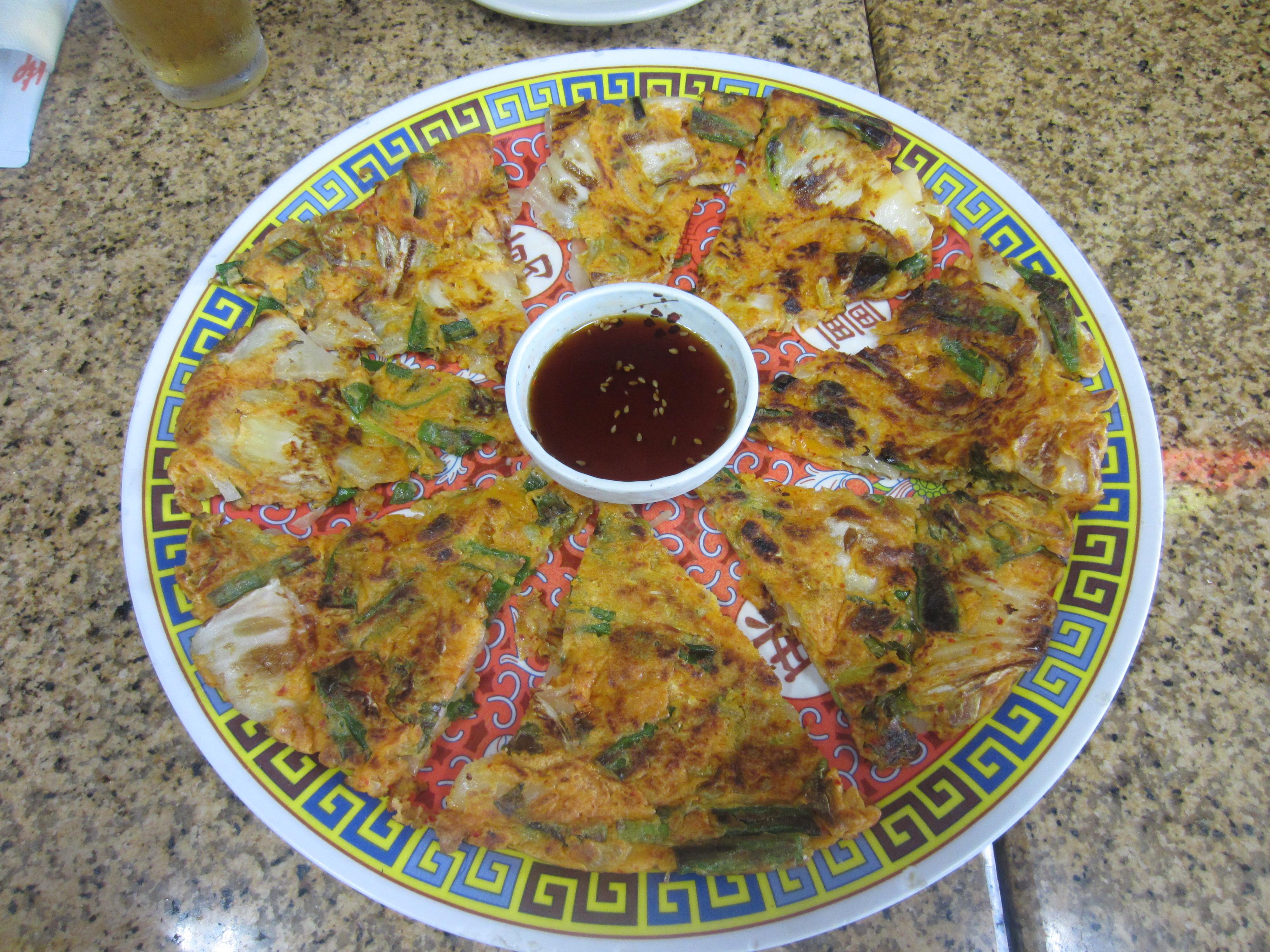 Kimchi pancake at Korean Grill. (KXAN Photo/Calily Bien)