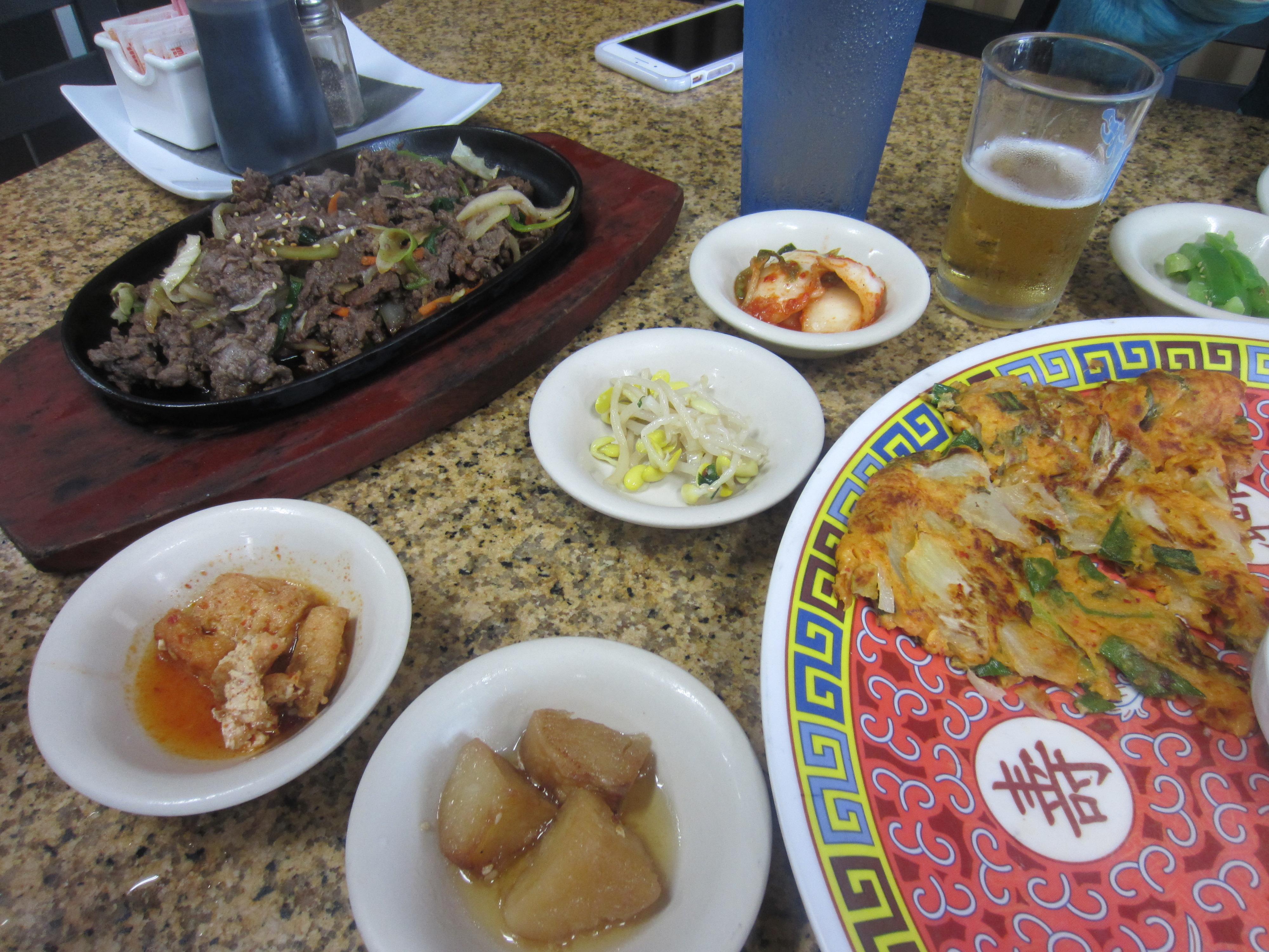 Beef bulgogi and kimchi pancake. (KXAN Photo/Calily Bien)