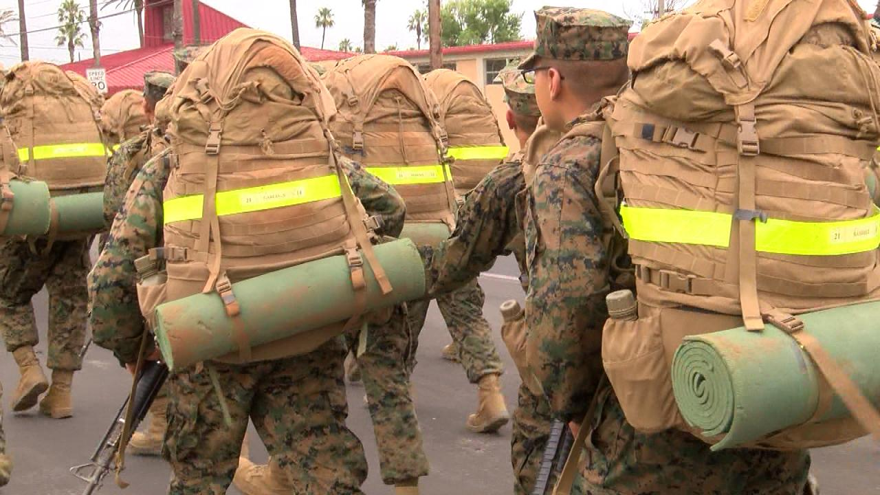 Recruits from West Texas participate in Marine Corps Recruit Training in San Diego, CA in June 2017. (Nexstar Photo/Emily Falkenberg)