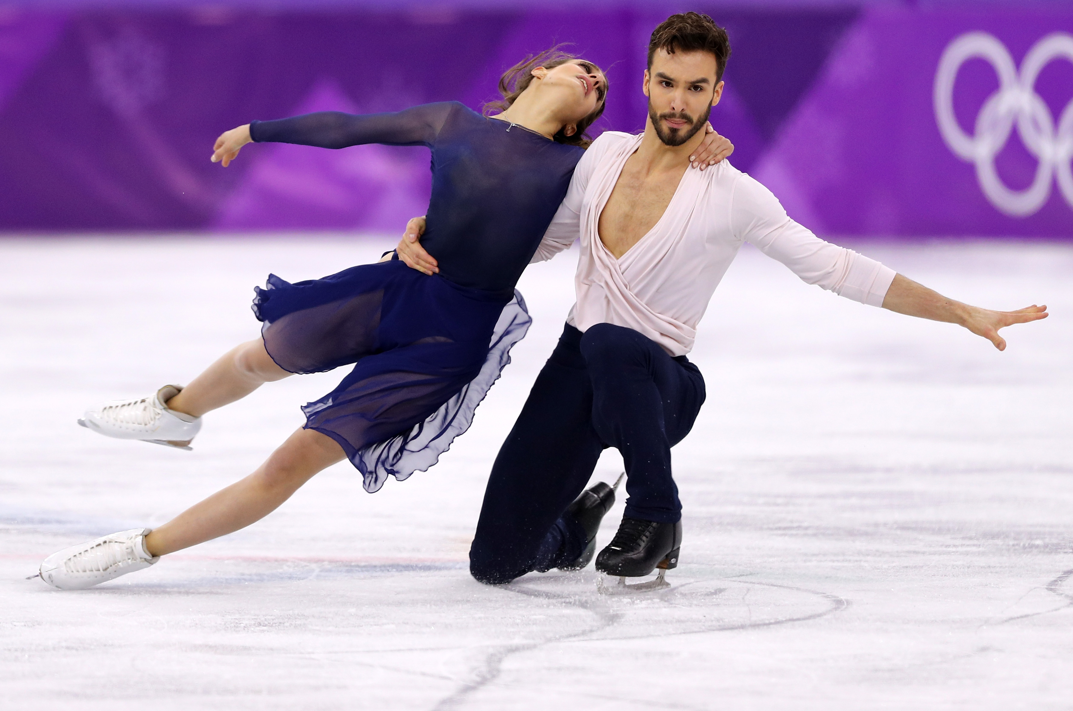 GANGNEUNG, SOUTH KOREA - FEBRUARY 20:  Gabriella Papadakis and Guillaume Cizeron of France compete in the Figure Skating Ice Dance Free Dance on day eleven of the PyeongChang 2018 Winter Olympic Games at Gangneung Ice Arena on February 20, 2018 in...