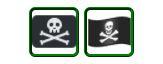 Pirate flag emoji (From Unicode)