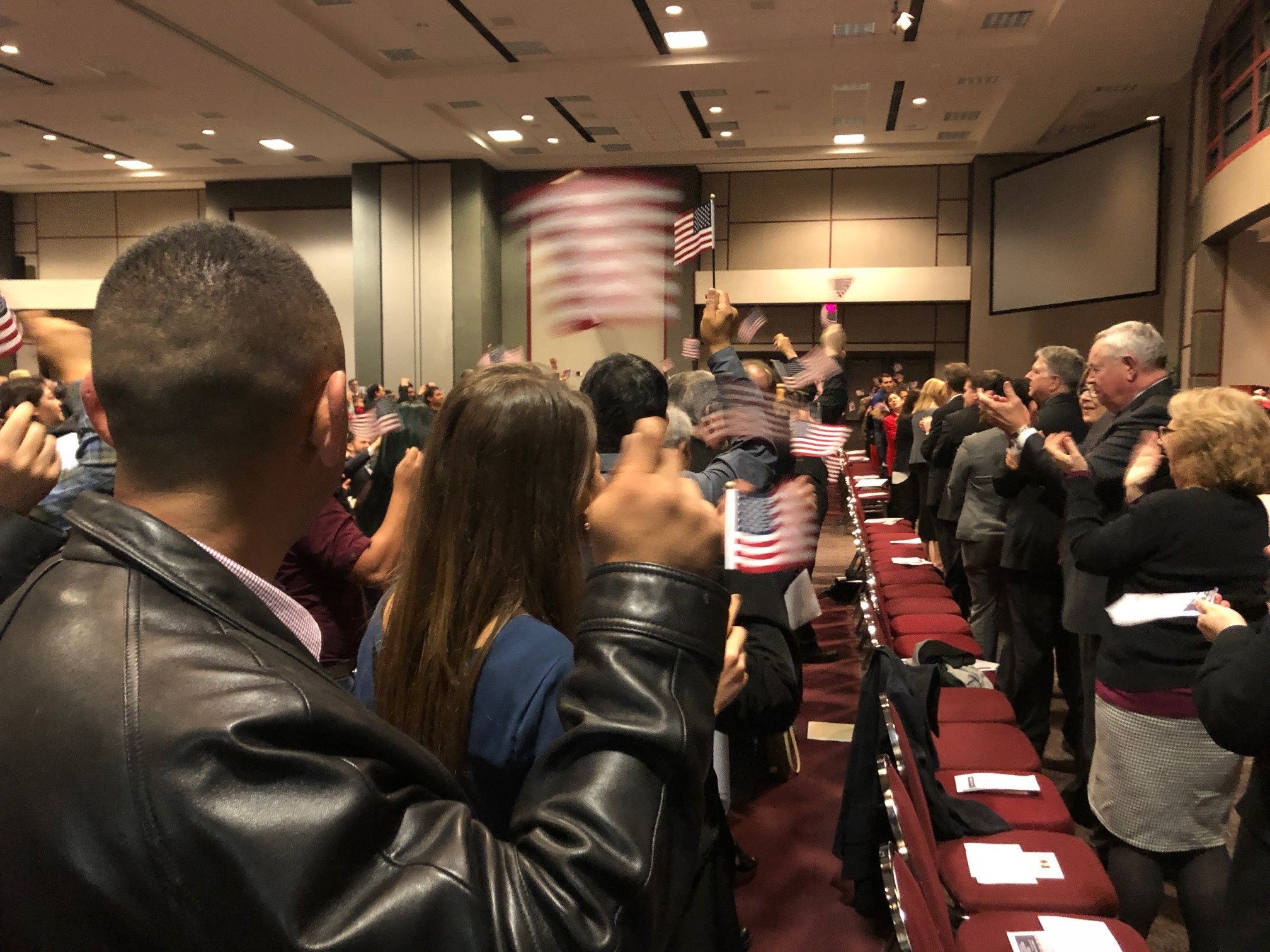 Naturalization Ceremony at Texas State University on Feb. 14, 2018. (KXAN Photo)