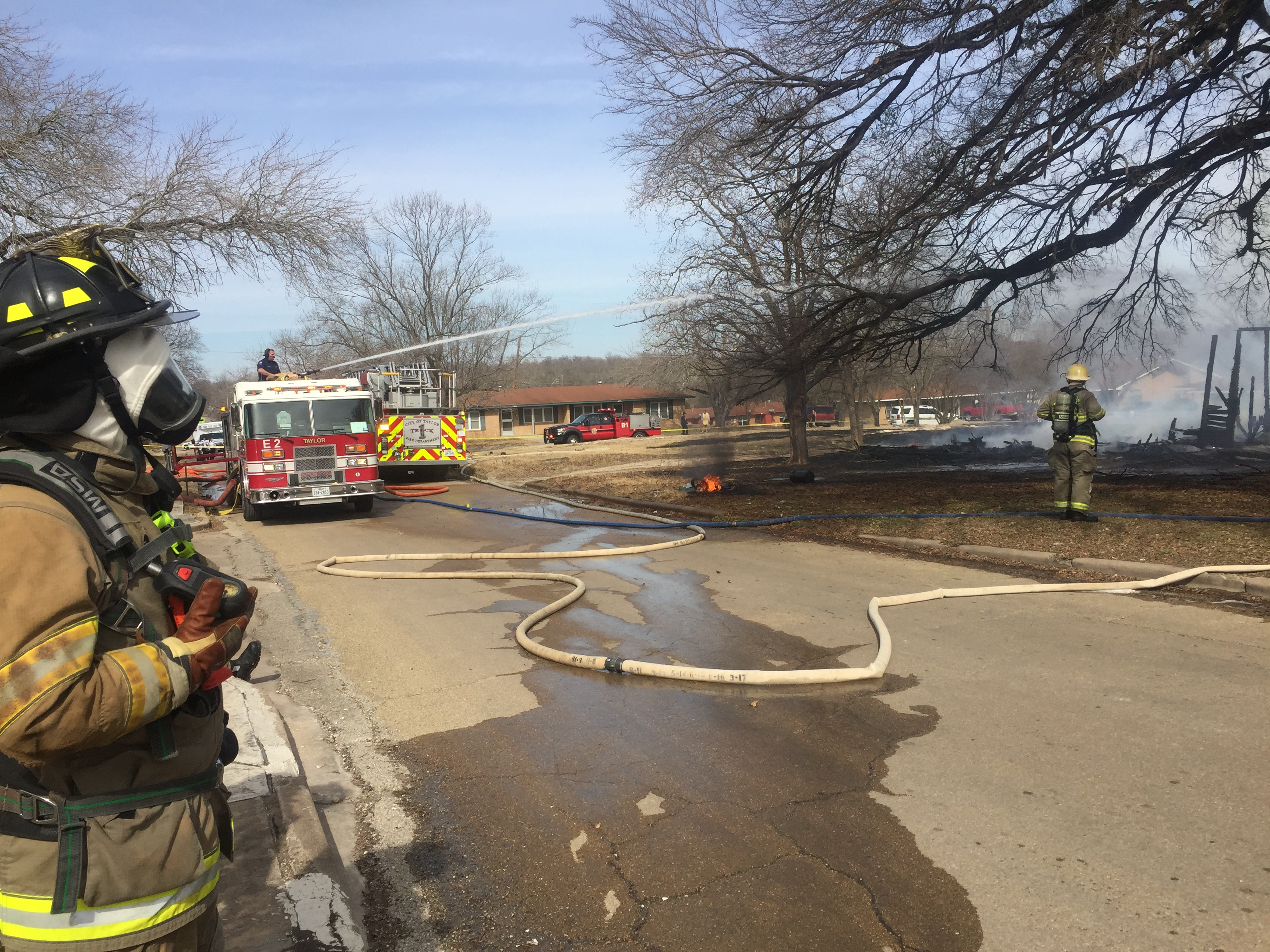 Firefighters working on a Taylor house fire on Washburn Street on Feb. 1, 2018. (Courtesy: City of Taylor)