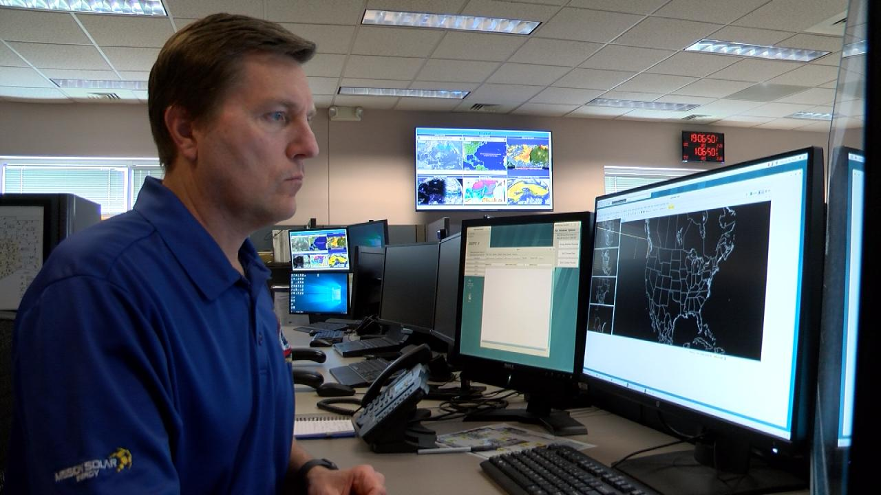 National Weather Service Warning Coordination Meteorologist Paul Yura tracks weather patterns in his Central Texas-based office on Feb. 28, 2018. (Nexstar Photo/Wes Rapaport)