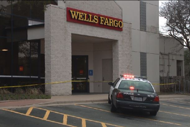 The Wells Fargo bank at 10900 Research Blvd. in northwest Austin was robbed on Feb. 7, 2018. (KXAN Photo)_631072