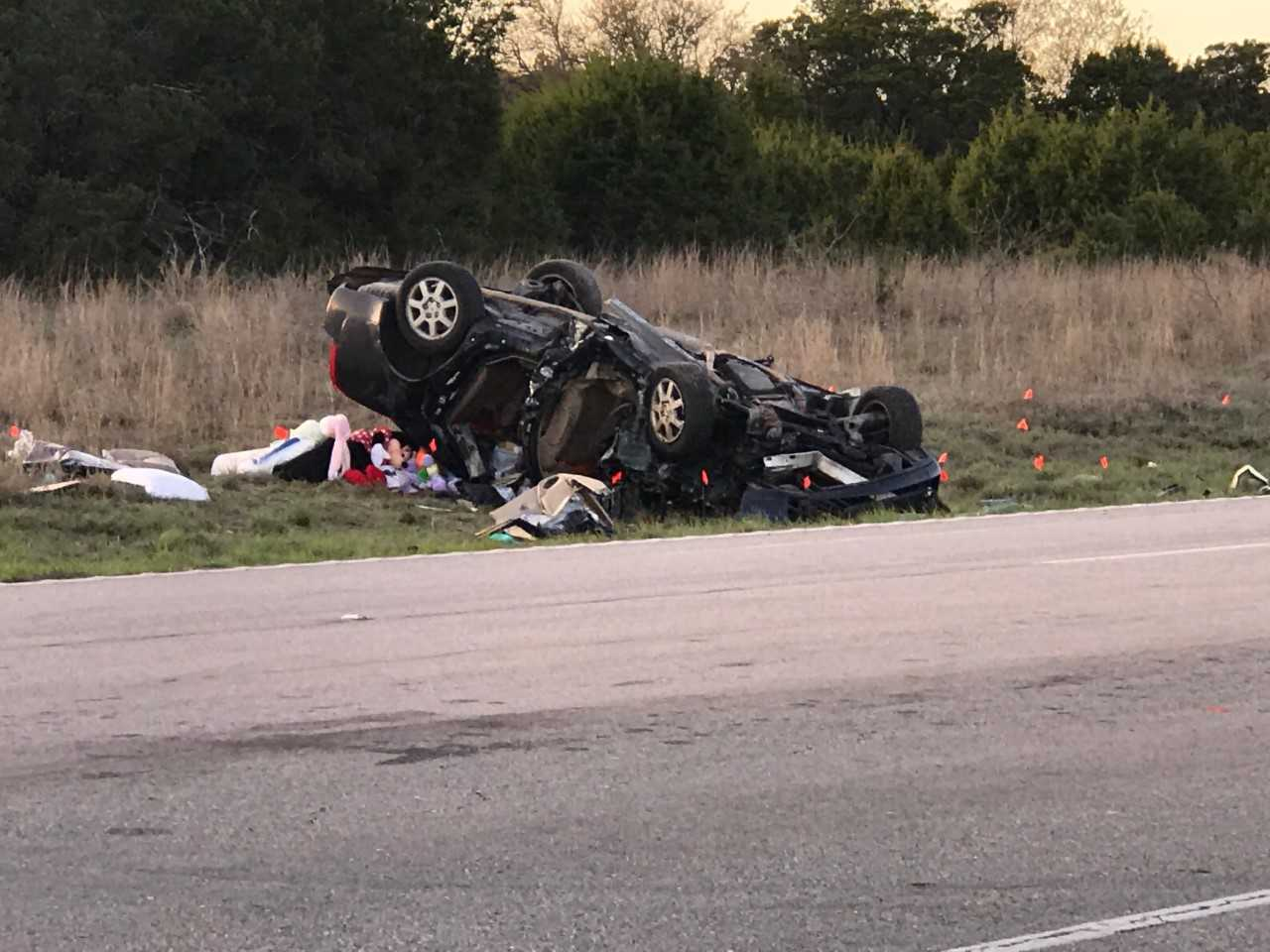 Two people killed in a crash on US 183 north of Liberty Hill on March 21, 2018