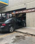 William Cannon car into gas station