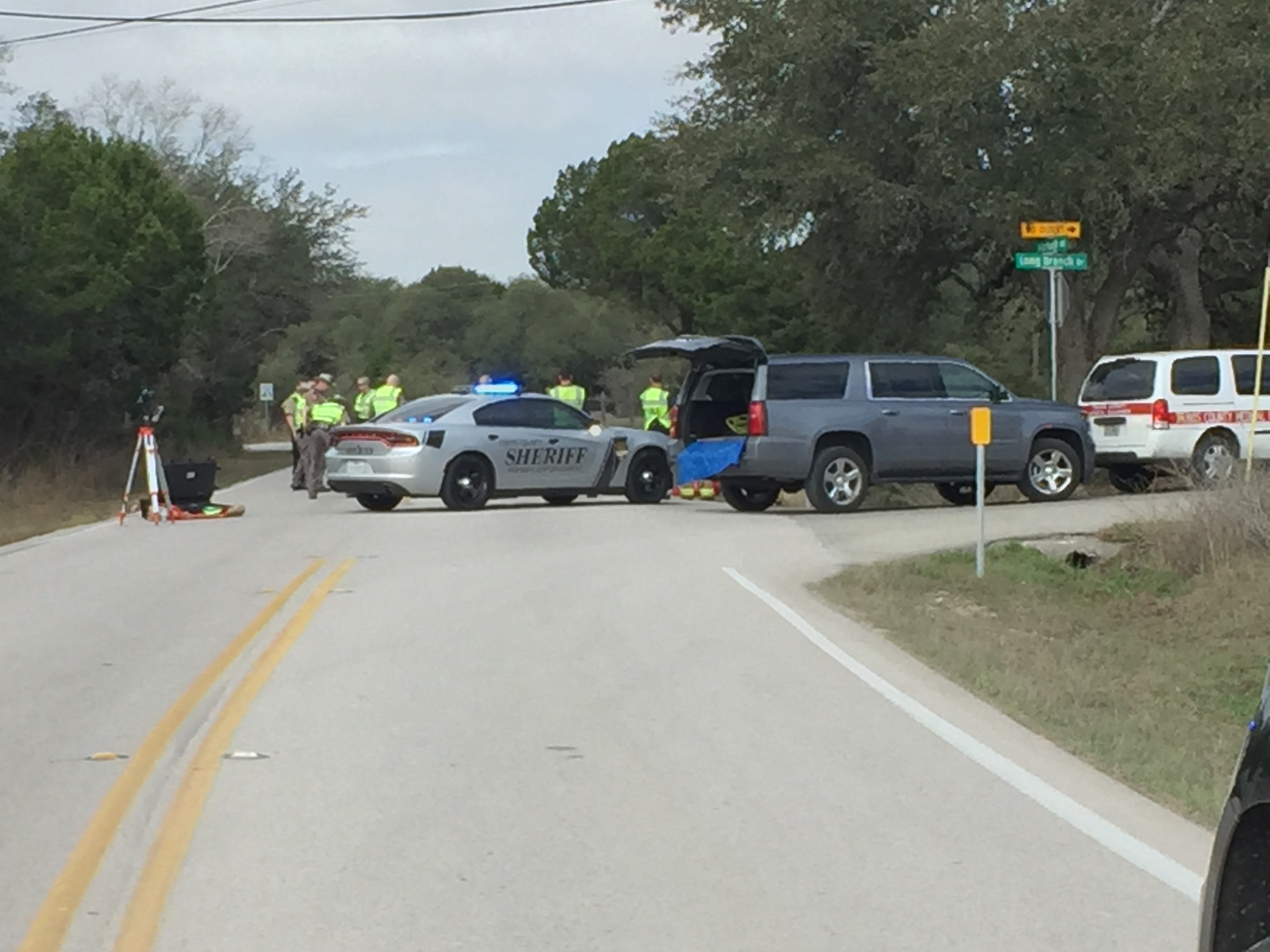 A motorcyclist died in a collision in southwest Travis County on Fitzhugh Road March 2, 2018 (KXAn Photo/Ed Zavala)