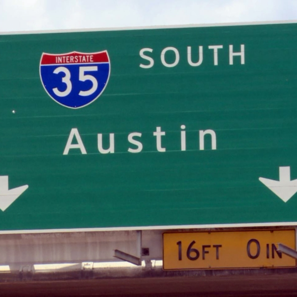 I-35 Austin sign -