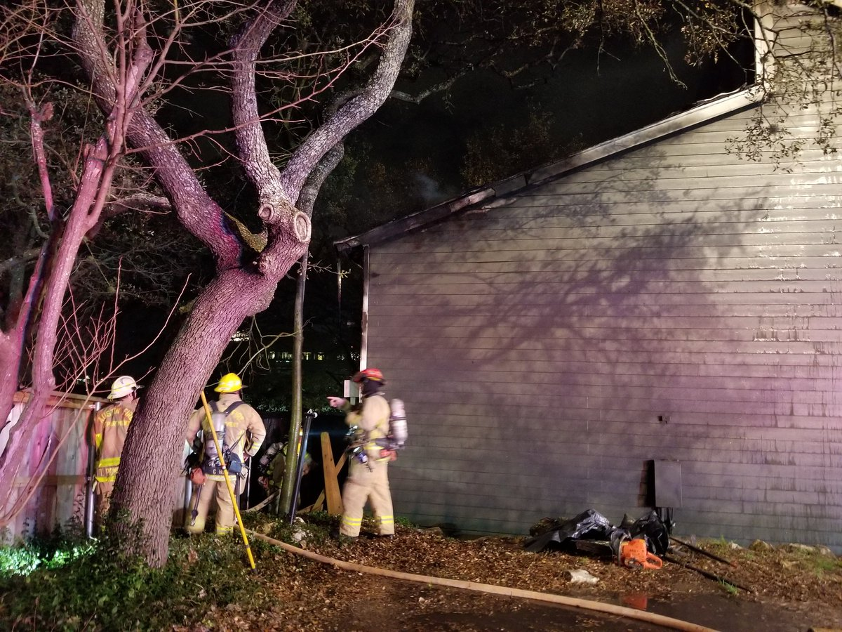 Apartment fire at 7201 Wood Hollow Drive on March 5, 2018. (Austin Fire Department)
