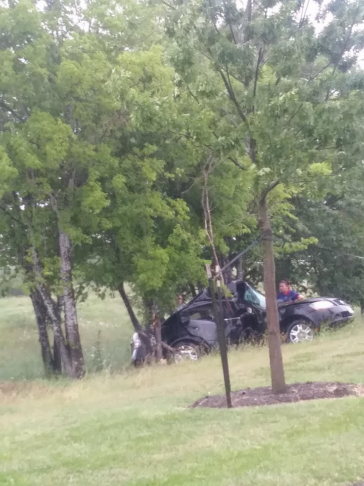 Man seriously injured in crash with tree