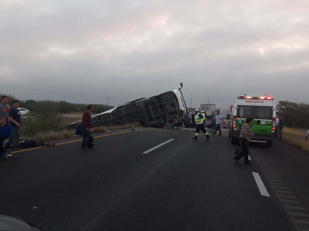 A bus from Houston crashed in Nuevo Leon, Mexico