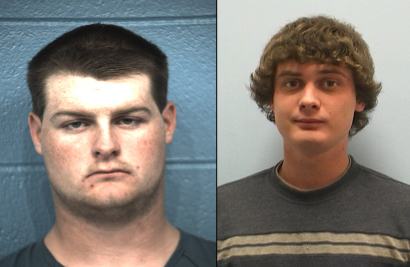 Hayden Michael Hammer, left, and Blake Kirkpatrick. (Williamson County Sheriff's Office and Austin Police Department)