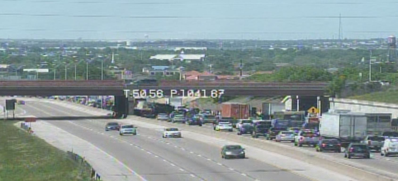 Backup on I-35 in Round Rock on April 23