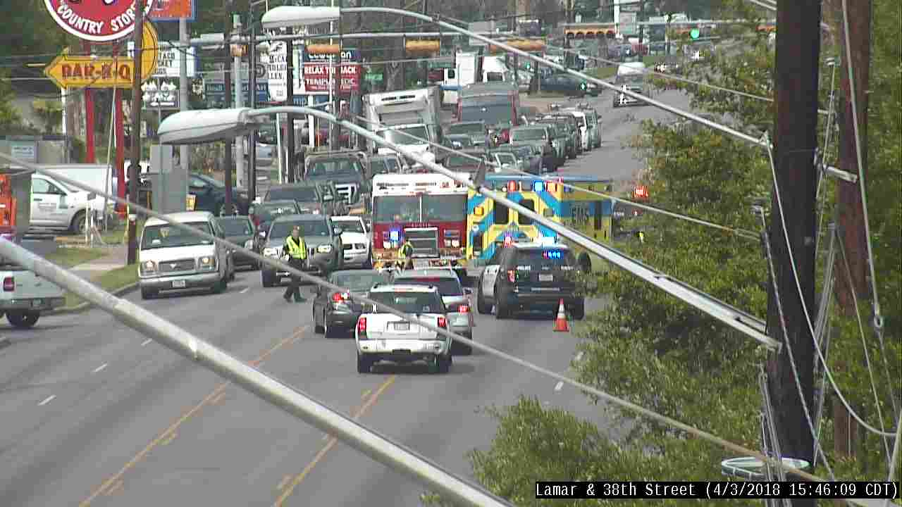 A child was hit by a vehicle on North Lamar Boulevard on April 3, 2018