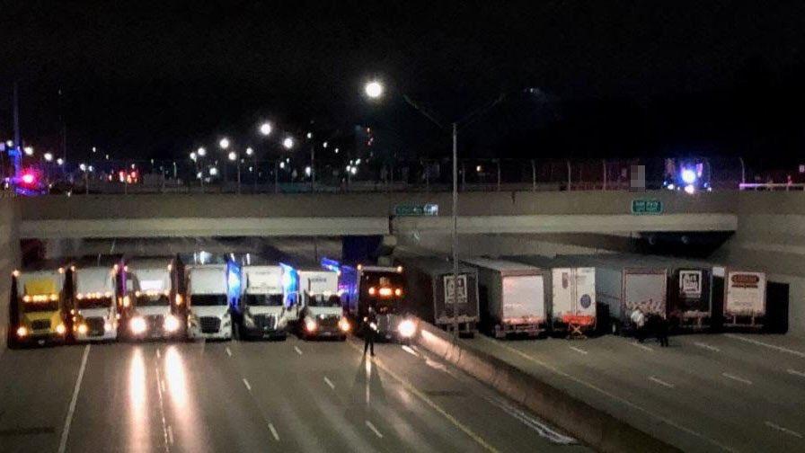 Interstate 696 Detroit suicidal subject