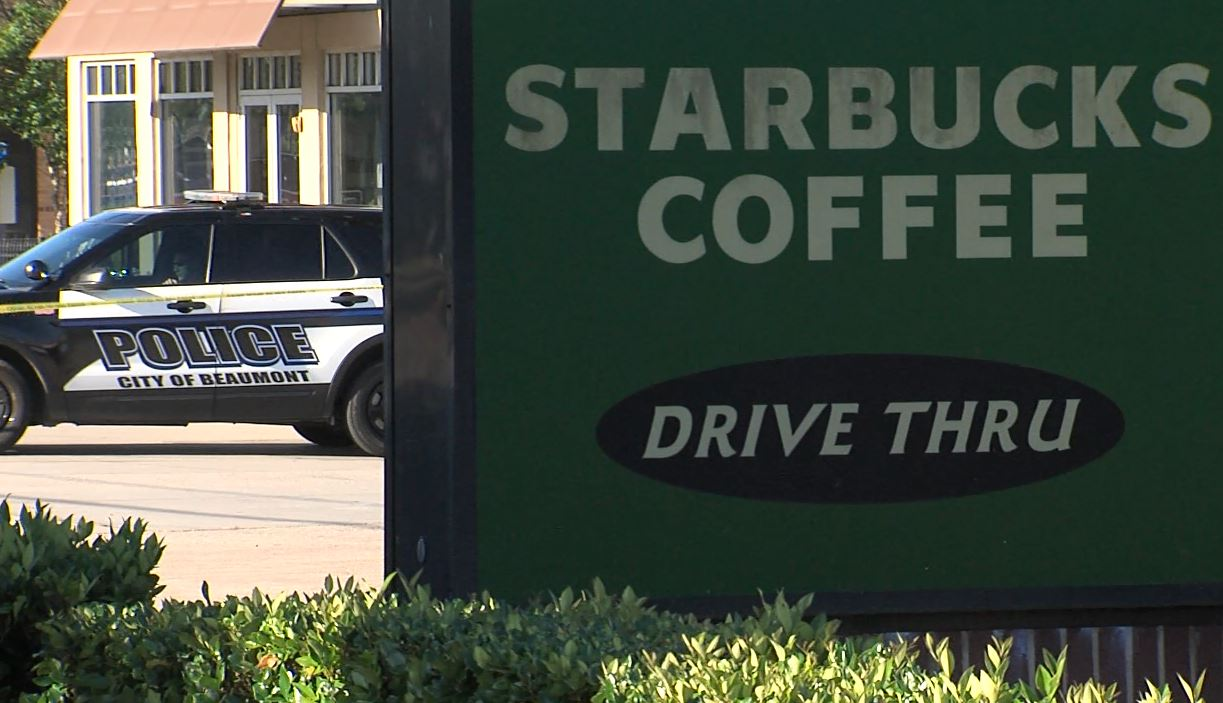 Starbucks in Beaumont after an explosive device was found inside a package.