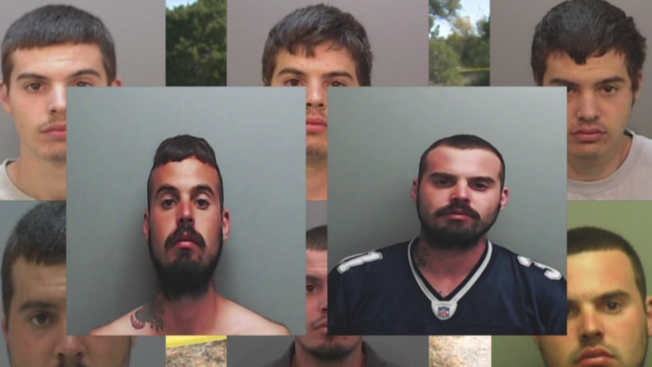 Mugshots of Rocky West through the years. (Hays County Jail)