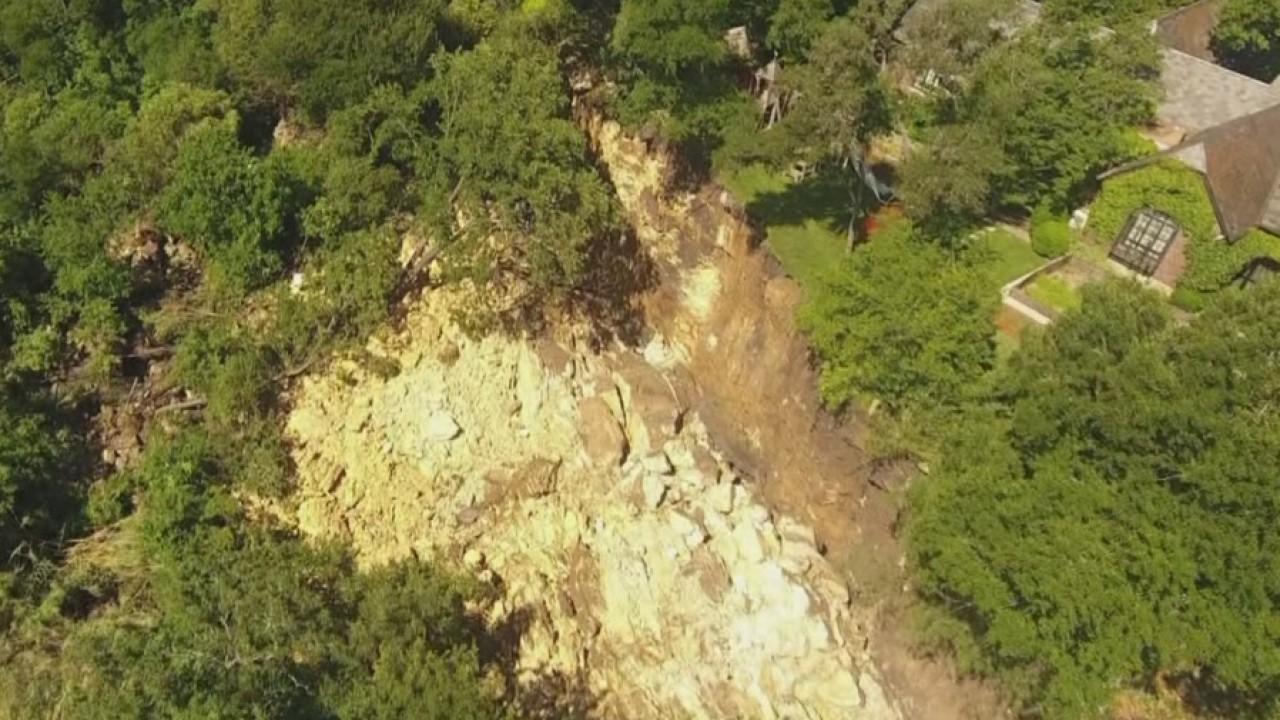 Shoal Creek trail landslide