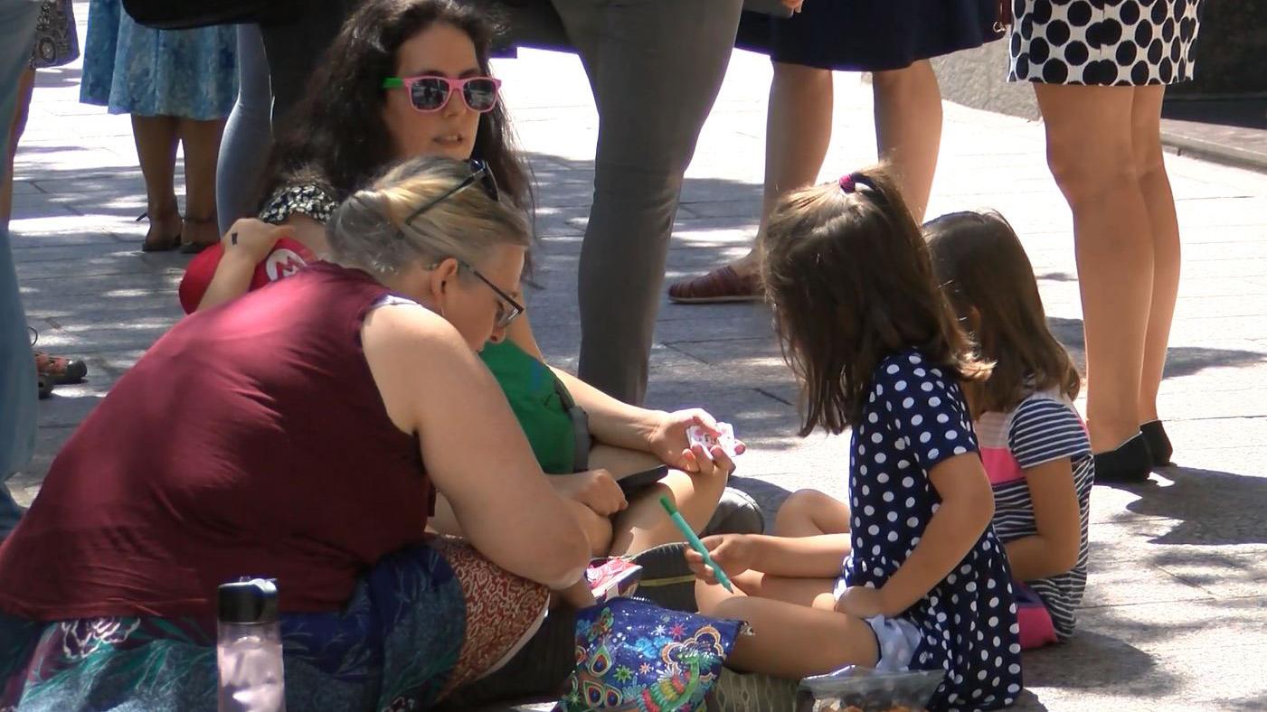 Family separation rally outside Sen. John Cornyn's Austin office
