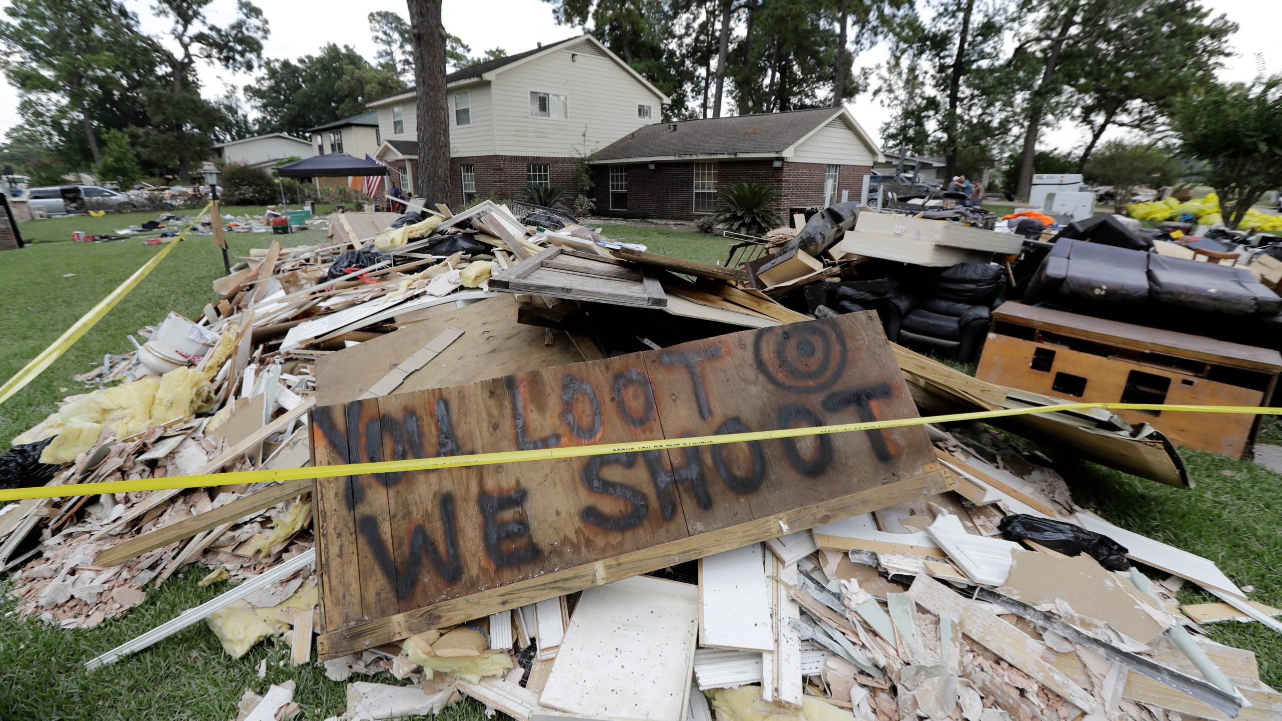 Looting warning Harvey loot