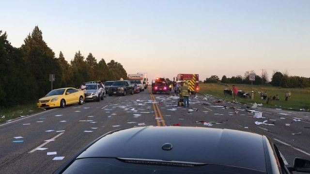 VIDEO: Two-vehicle crash on US 290 in McDade