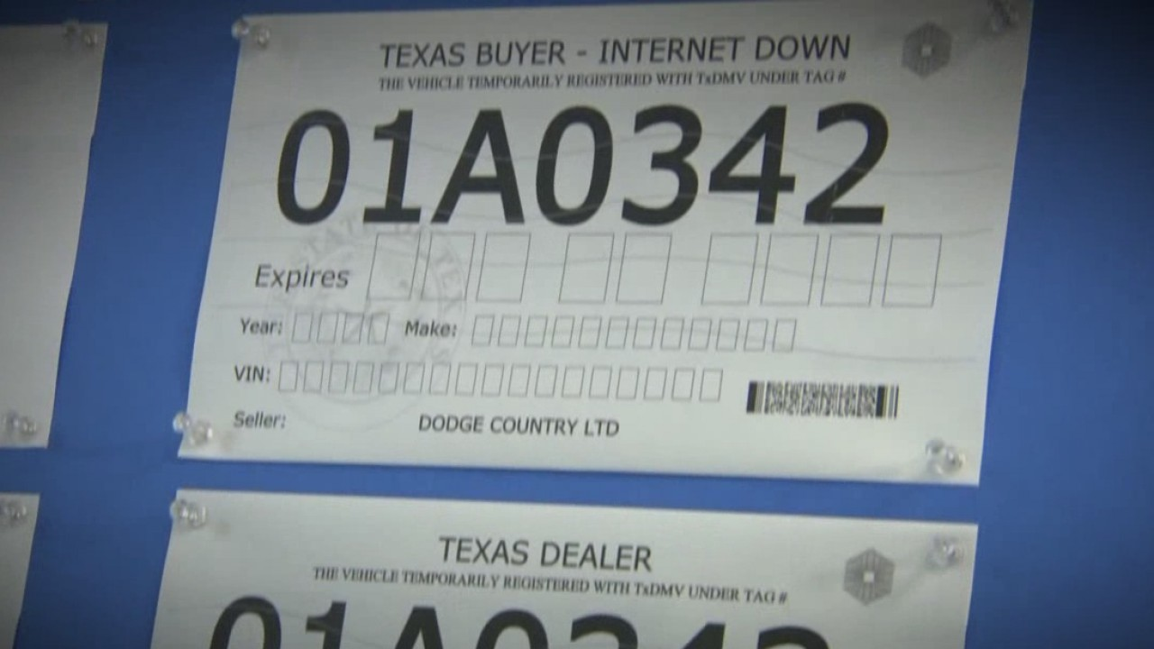 photograph relating to Printable License Plate Maker identify TxDMV halts sections of on the web paper license plate method among the
