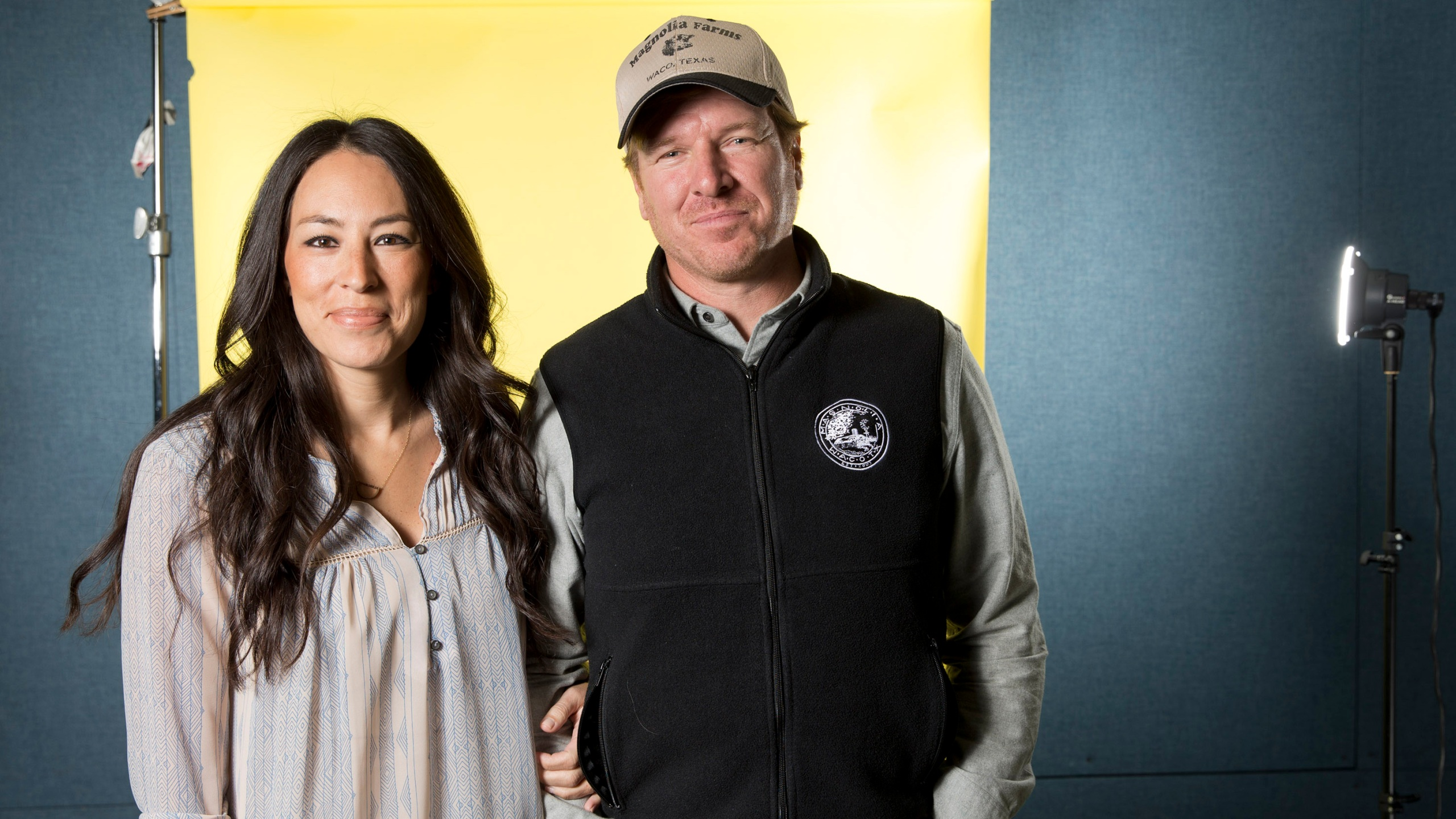 In this March 29, 2016 photo, Joanna Gaines, left, and Chip Gaines pose for a portrait in New York