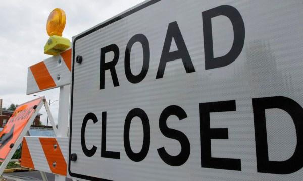 FILE Road closed road closure