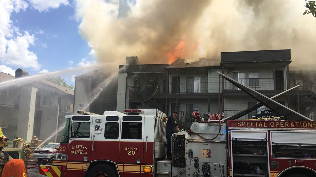 victory drive apartment fire