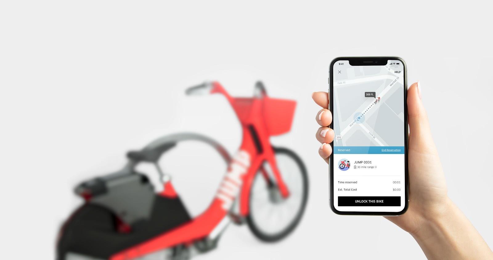 Uber Jump bicycle bike share