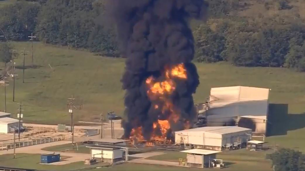 Arkema plant fire on Sept. 1, 2017 in Crosby, Texas