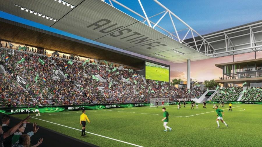 Rendering of the Austin FC stadium 3