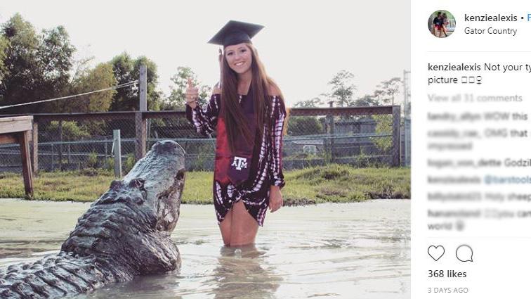 Makenzie Alexis Noland graduation photos with gator